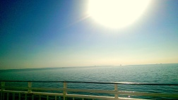 Sunny weather on my way with the ferry.