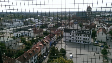 The old city of Rostock from the tower.